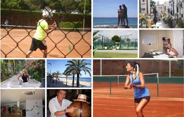 Spanish and tennis training for adults Spain